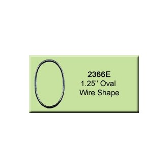 1.25 inch Oval Wire Shape