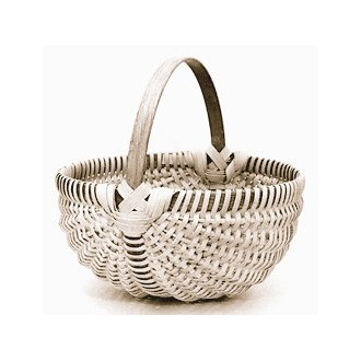 Special Quantity -- 10 inch Melon Shaped Egg Basket - Supplies for 5 Baskets