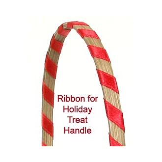 Ribbon for Holiday Treat Basket Handle