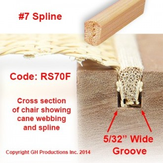 No. 7 Spline - Order the total feet you need