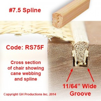 No. 7.5 Spline - Order the total feet you need