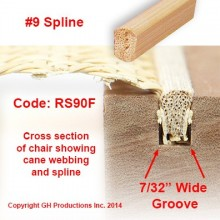 No. 9 Spline - Order the total feet you need