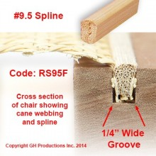No. 9.5 Spline - Order the total feet you need