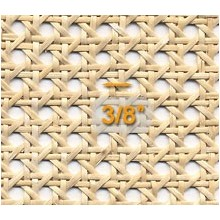 "SUPPLY IS LIMITED. Cane Webbing Superfine 3/8 inch Mesh 18"" wide"