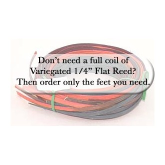 """per foot - DYED 1/4"""" Flat Hearthside Variegated--Sold by the foot"""