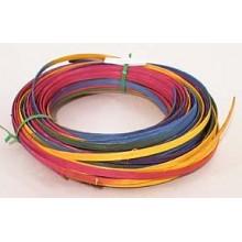 ".25 lb. - 1/4"" Flat Pastel Variegated DYED--1/4 lb. bundle"