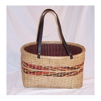 Banded Double Wall Tote Basket Pattern