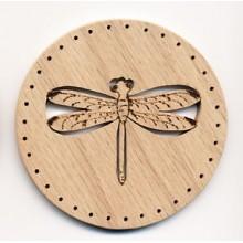 Pine Needle BASE 3.5 inch Dragonfly Design