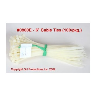"Cable Ties 6"" length - pkg. of 100"