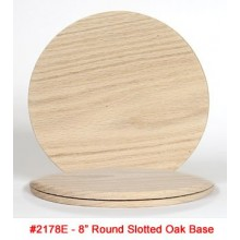 OAK BASE 8 inch Round Slotted Base