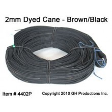 BrownBlack Super Fine Cane 2.0mm - 1000 ft. coil