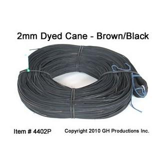 BrownBlack Super Fine Cane 2.0mm - 1000 ft. coil