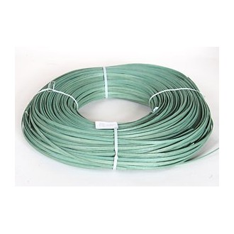 "1 lb. - 11/64"" Flat Moss Green DYED--1 lb. bundle"