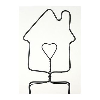 Home with Heart Wire Hanger