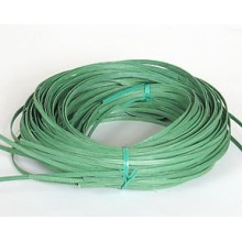 ".25 lb. - 11/64"" Flat Green DYED--1/4 lb. bundle"
