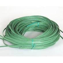 ".25 lb. - 11/64"" Flat Green DYED--1/4 lb. bundle"