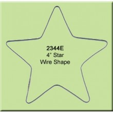 4 inch Star Wire Shape