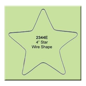 4 inch Star Wire Shape