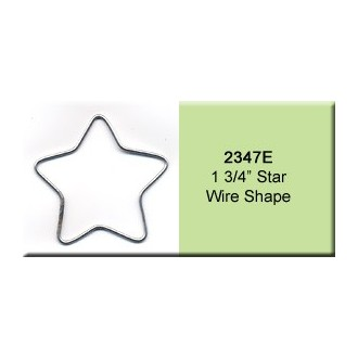 1 3/4 inch Star Wire Shape