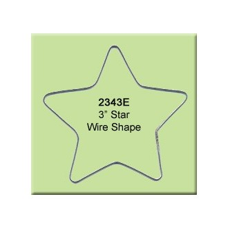 3 inch Star Wire Shape