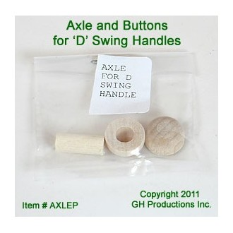 Axle - 1 Peg & 2 Buttons for Swing Handle