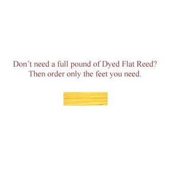 """per foot - DYED 1/4"""" Flat Lemon--Sold by the foot"""