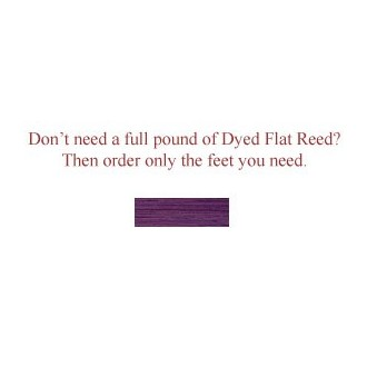 """per foot - DYED 1/2"""" Flat Violet--Sold by the foot"""