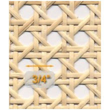 """Open 3/4"""" Mesh Cane Webbing 24"""" wide - Sold by the running foot"""