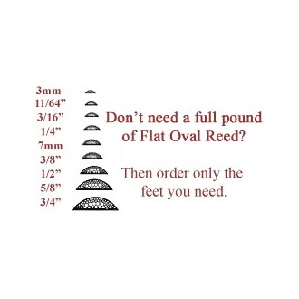 per foot - 3mm Flat Oval Reed--Sold by the foot