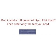 """per foot - DYED 1/4"""" Flat Denim--Sold by the foot"""