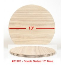 Double-Slotted 10 inch Wooden Base