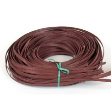 """1/2 lb. - 1/4"""" Flat Reed Cocoa Brown DYED -- 1/2 lb. bundle"""