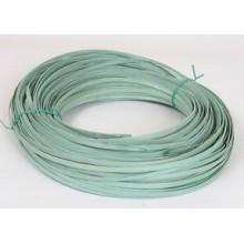 """1/4"""" Flat Reed Sage Green DYED -- 1/2 lb. bundle"""