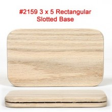 3 x 5 inch Rectangular Slotted Base