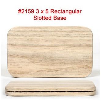 3 x 5 inch Rectangular Slotted Base