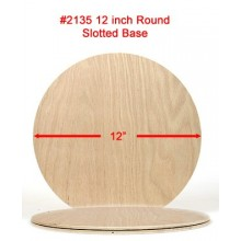 12 inch Round Slotted Base