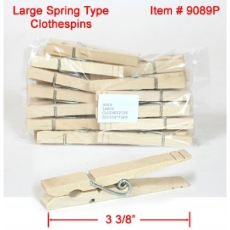 LARGE CLOTHESPINS Spring-type