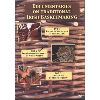 DVD2 - Round Willow Shopping Basket made by Bill Sinnott - Traditional Irish Basketmaking Documentary