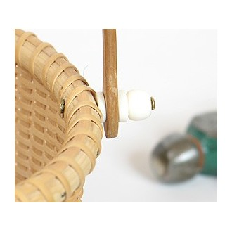 Attaching Bone Knobs to Your Basket