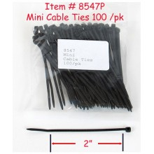 "Miniature 2"" Cable Ties (100 per pack)"