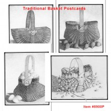 8 Traditional Basket Postcards