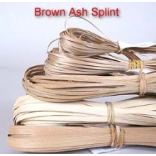 Brown Ash Splint 1/8 inch wide, 60 ft.