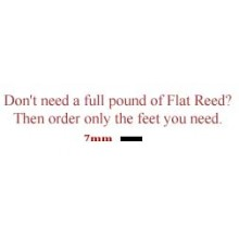 per foot - 7mm Flat Reed - sold by the foot