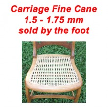 per foot - Carriage Fine Cane 1.5 - 1.75 mm - sold by the foot