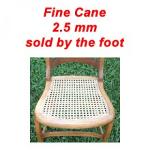 per foot - Fine Cane 2.5 mm - sold by the foot