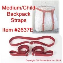 Medium or Child Backpack Straps