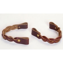 8 inch BRAIDED Leather Handles - pair