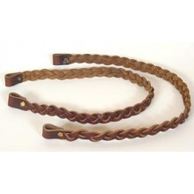 17 inch Braided Leather Handles - pair