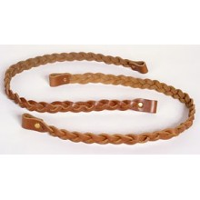 22 inch Braided Leather Handles - pair
