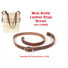 Mule Bridle Leather Strap for Mule Skinner Basket